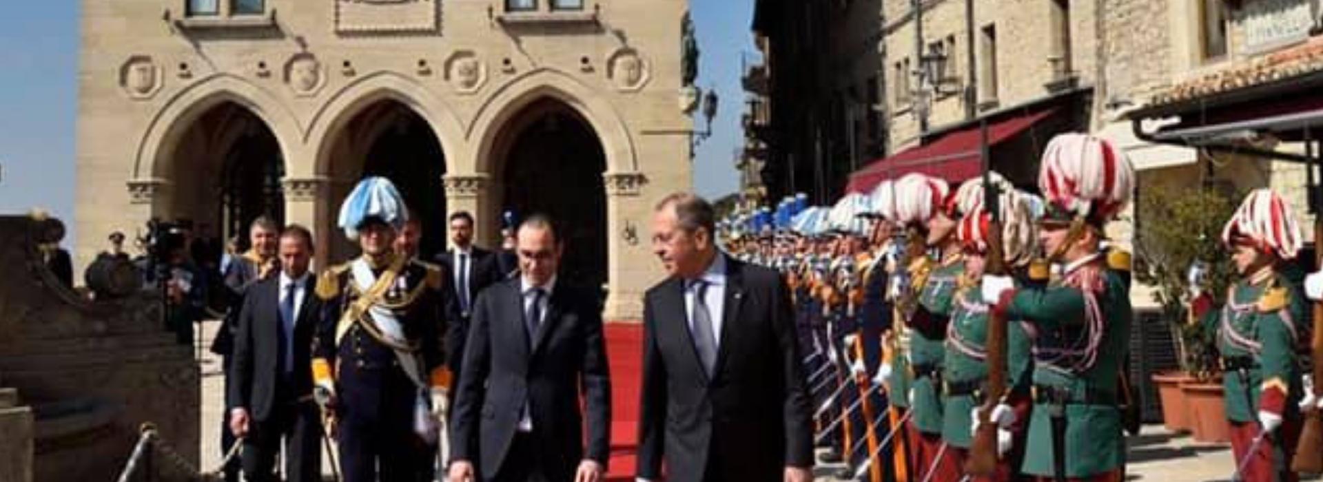 Visita ufficialedel Gruppo EFTA del Consiglio dell'Unione europea edel Ministro degli Esteri della Federazione Russa,Sergej Lavrov